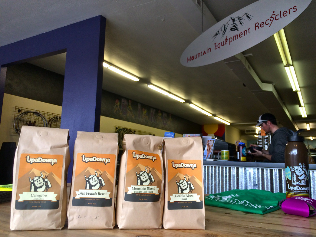 Every bag of UpaDowna coffee purchased at Mountain Equipment Recyclers helps support the outdoor adventure nonprofit.