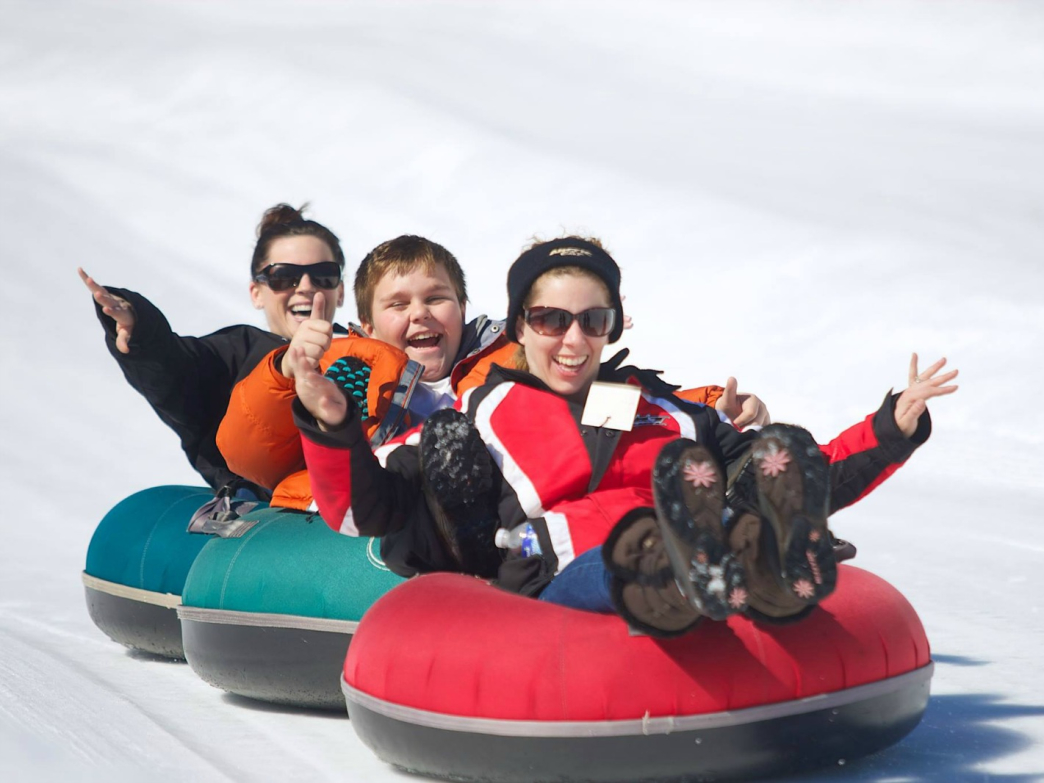 Family tubing at Gunstock Mountain Resort