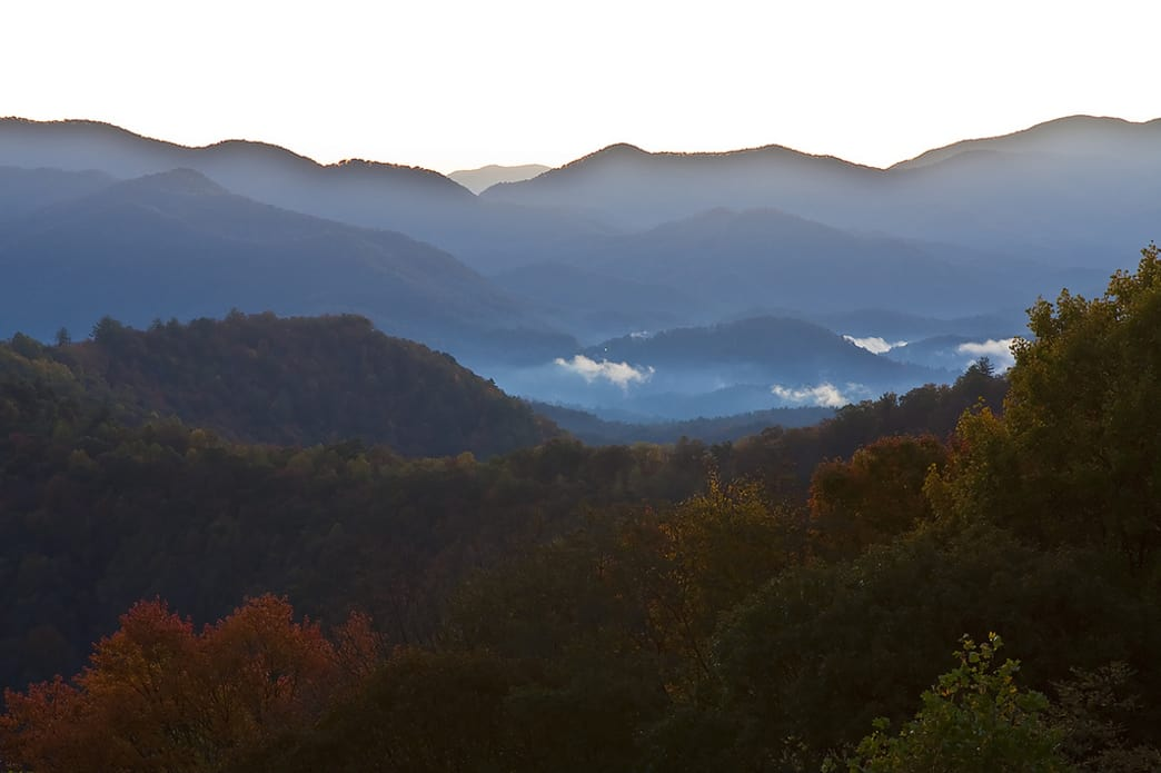 Nantahala National Forest in autumn.