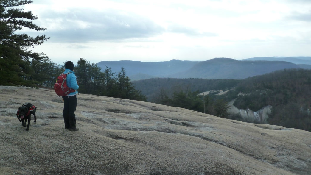 The bald face of Stone mountain is the perfect rest  stop.
