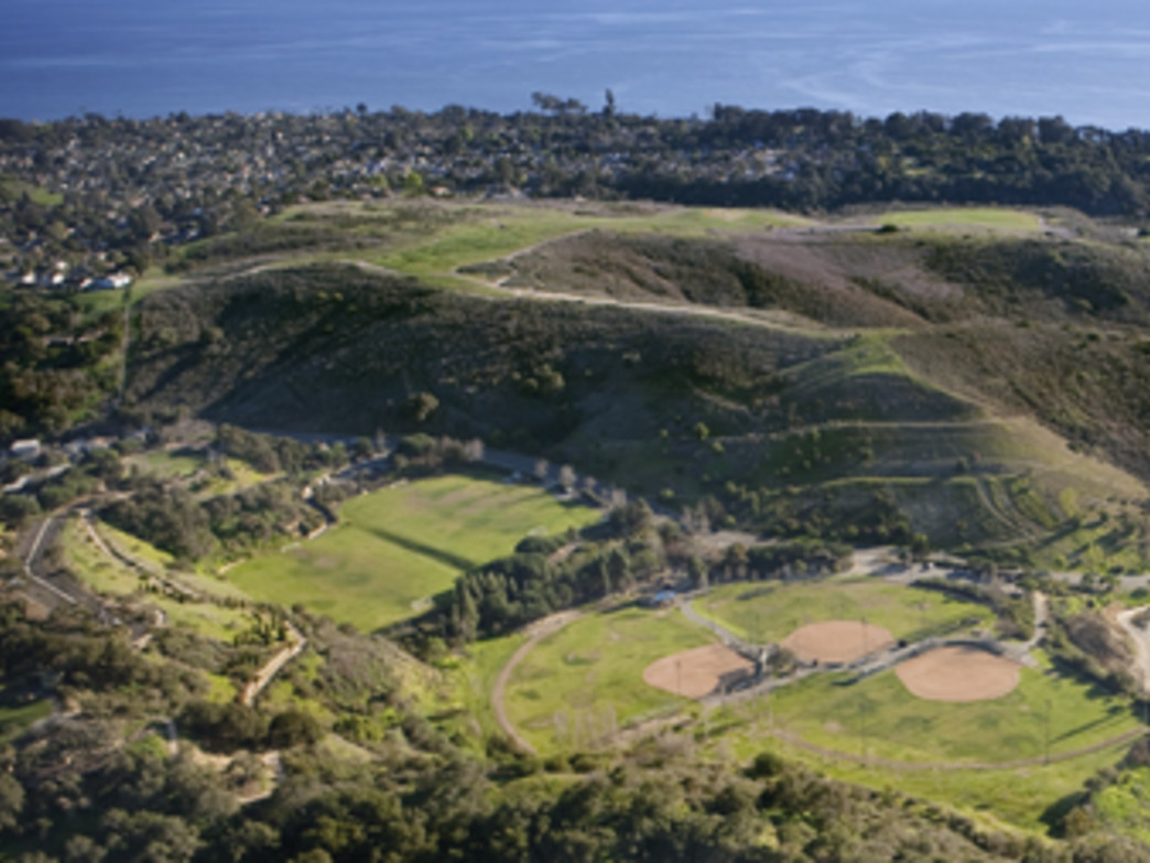 Elings Park from above, Santa Barbara's premier racing trails, Courtesy of Elings Park 5K