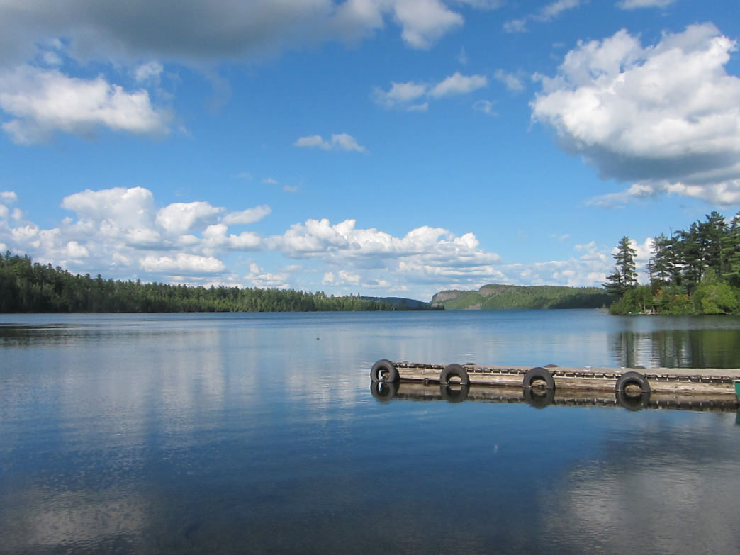 Clearwater Lake in Minnesota's remote Boundary Waters Canoe Area Wilderness.