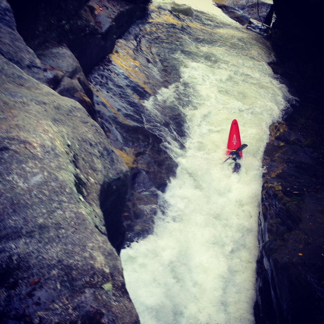 David Clarke running Gorilla on The Green River Narrows.