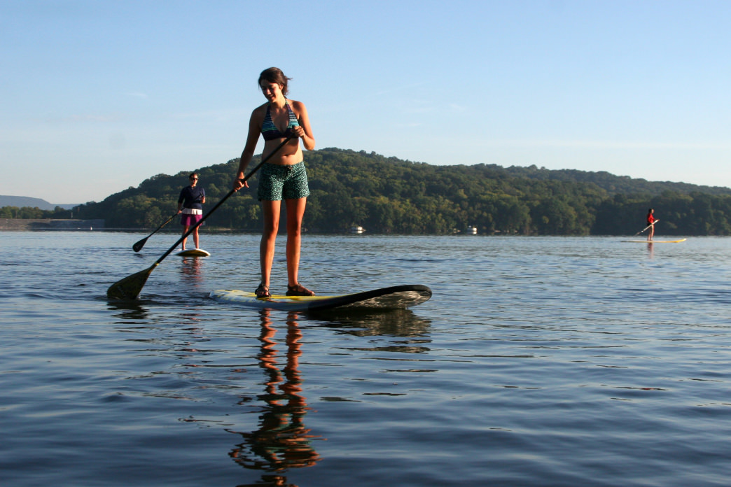 You can rent SUPs and kayaks on Chattanooga's Riverwalk.