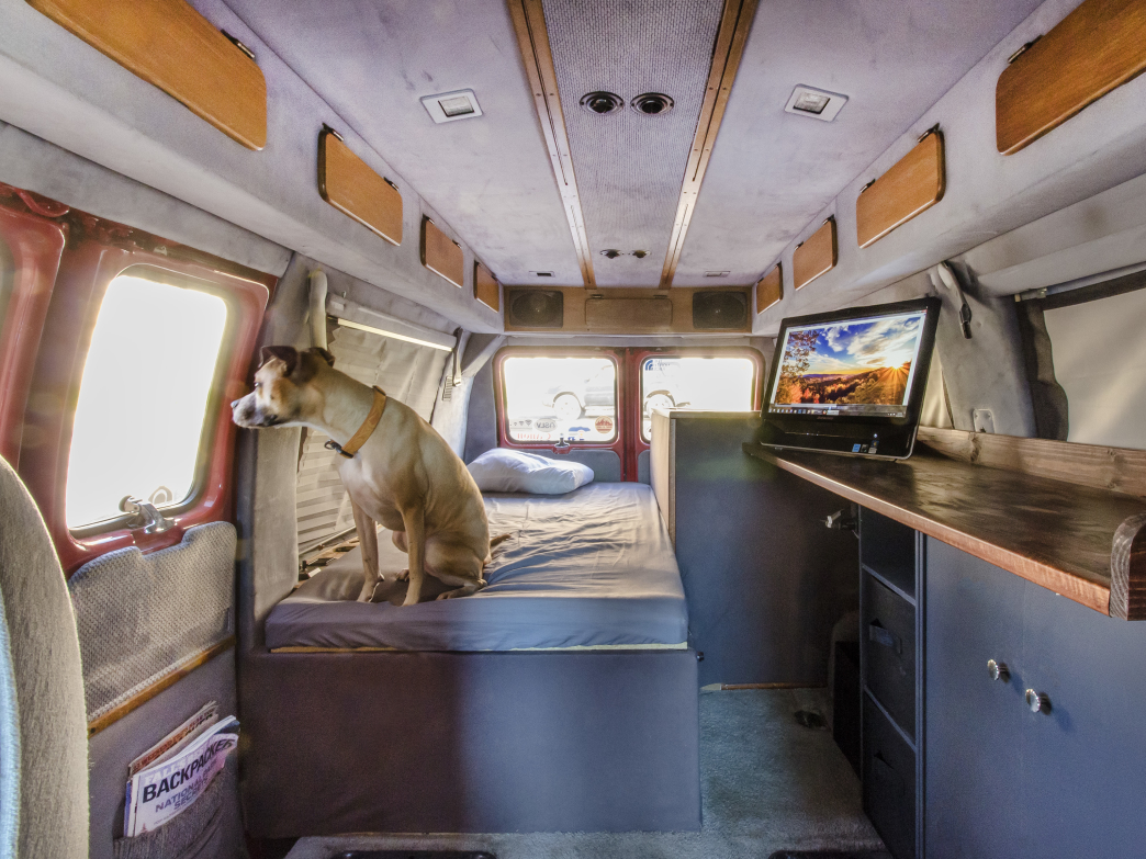 A look inside Humphrey's home on wheels.