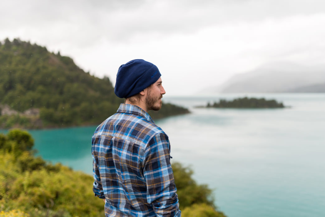 Dylan Jones takes in the views of Lago General Carrera.