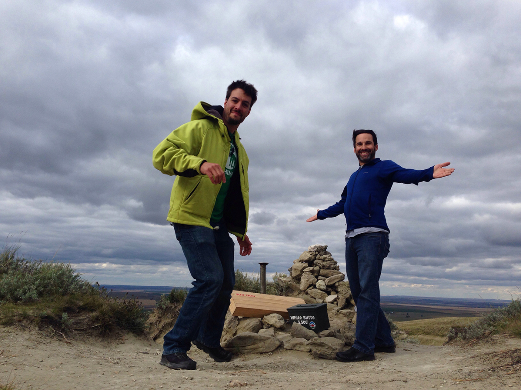 White Butte, the highest point in North Dakota. Paul on the left, the author on the right.