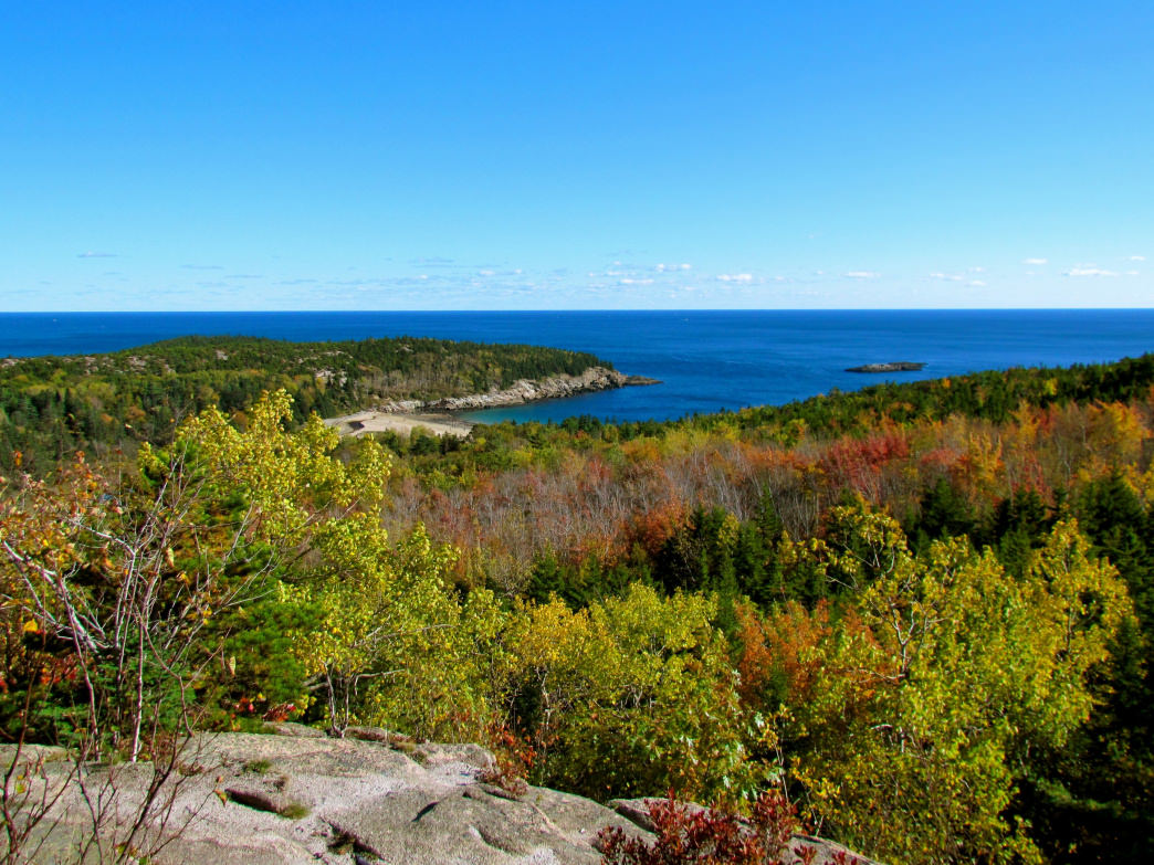 Behold the blazing blue horizon on a clear day at Acadia.     Madeleine Deaton