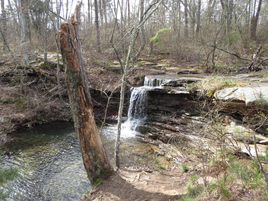 Lost Falls is one of three on DeSoto State Park's Falls Loop Trail.
