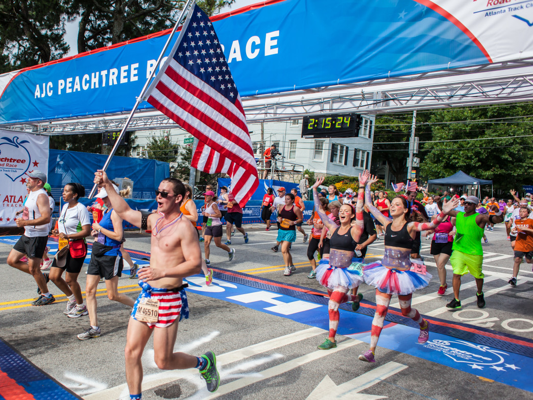Peachtree is the largest running race in the country.