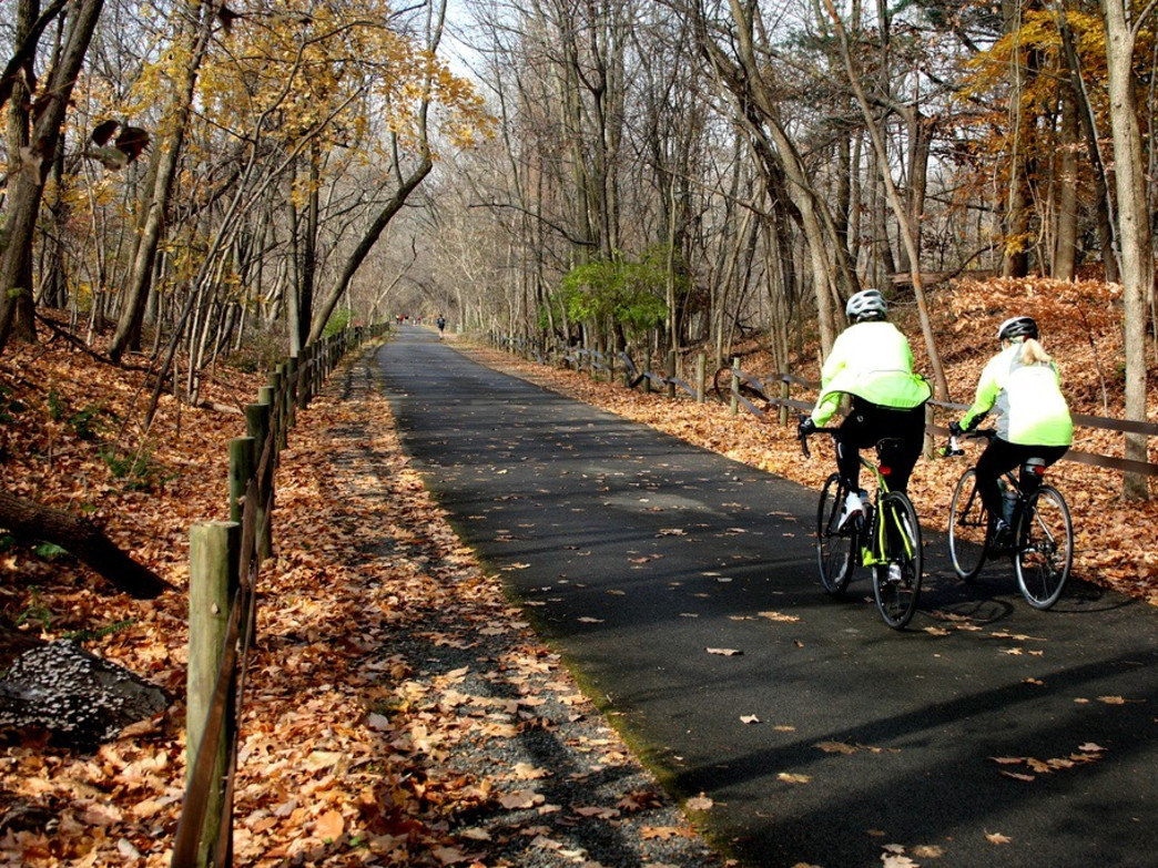 Riding on the Schuylkill River Trail near Valley Forge National Historic Park