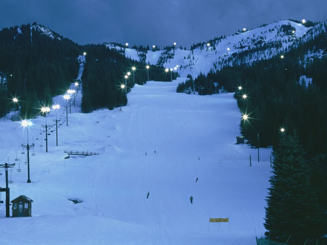 Night skiing at Mt. Hood Skibowl is a popular wintertime activity among Portlanders.