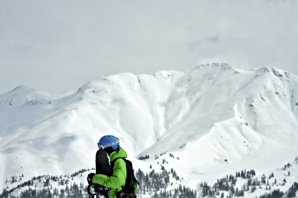 Uphill skinning/snowshoeing can help you beat the traffic (and the crowds)!