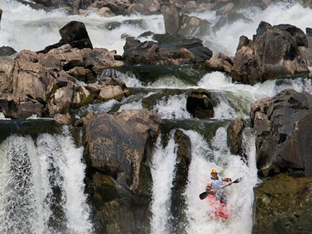 White Water Kayaker on Great Falls in the Potomac River