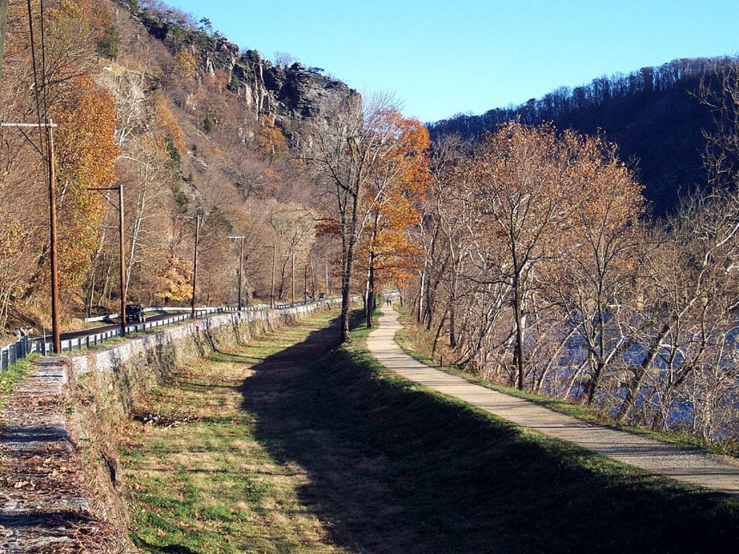 C&O Canal Towpath east of Harper's Ferry