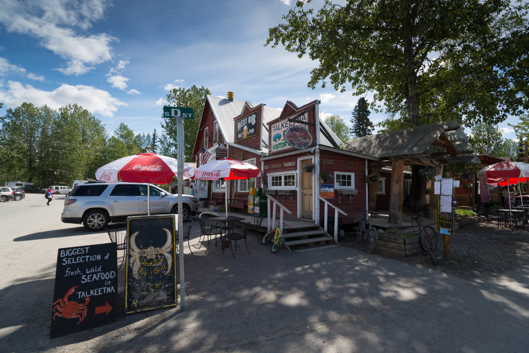 Downtown Talkeetna in all its quintessential Alaska glory.
