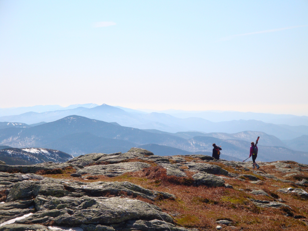 Alpine tundra on the peak of Mount Mansfield.