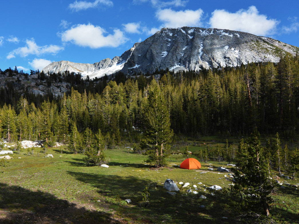 Camping in the High Sierras, one of the biggest roadless areas in the Lower 48.