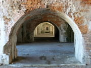 A hallway in Fort Pickens.