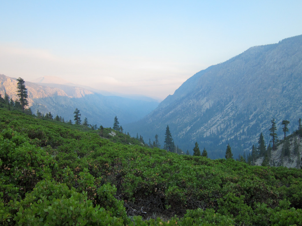 Kern Canyon sunset from High Sierra Trail.