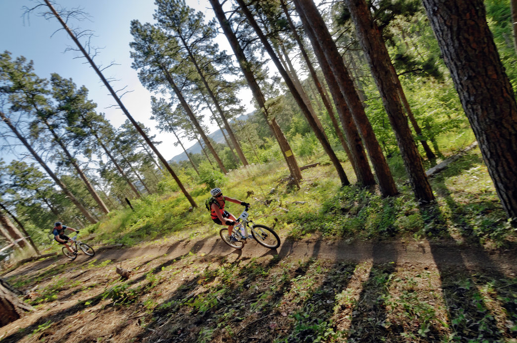 Close to Mt. Rushmore, the Storm Mountain Trail offers excellent singletrack trails in the Black Hills National Forest.