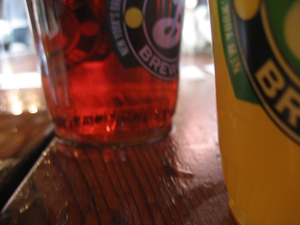 Frosty beverages at Brooklyn Brewery