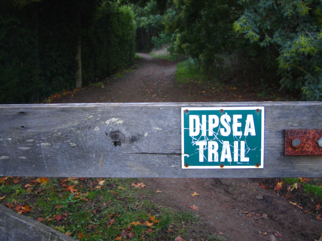A gate marks the infamous Dipsea Trail in Marin County.