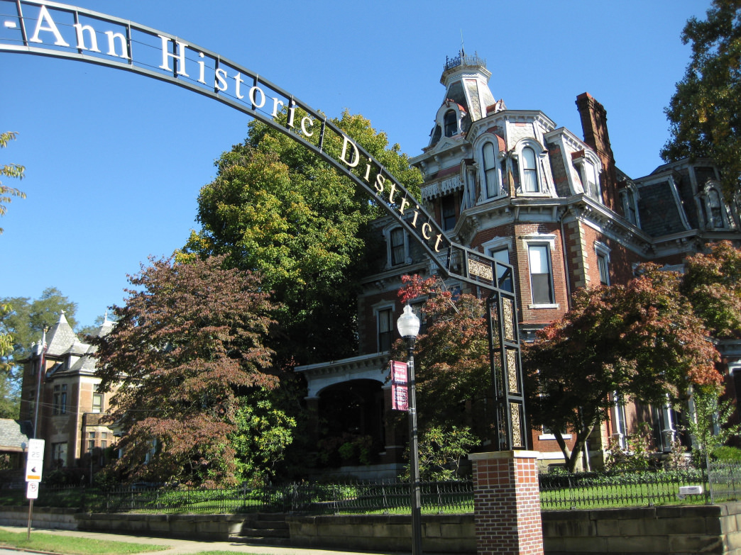 A view of the Julia-Ann Historic District in Parkersburg.