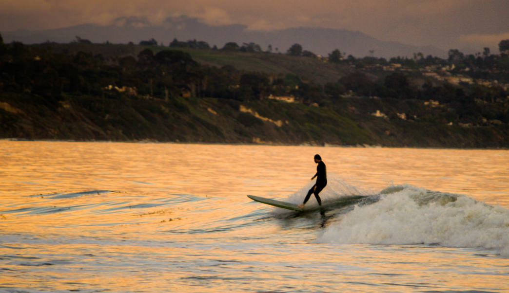 Both experienced surfers and first-timers can find waves around Santa Barbara.