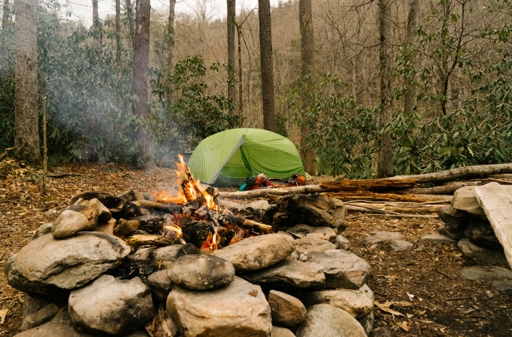 Camp vibes in the Linville Gorge.