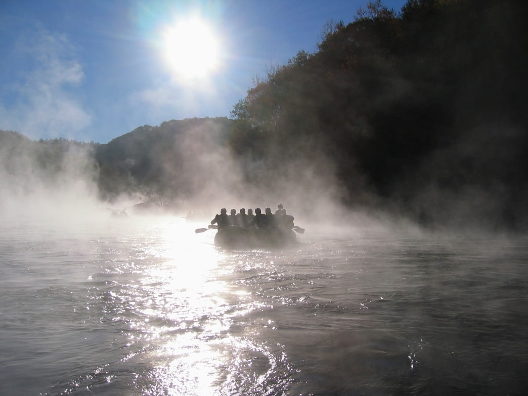 Early morning mist on the Gauley.