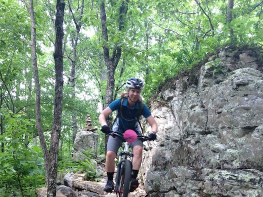 The advanced Rock Slot trail at Coldwater Mountain.