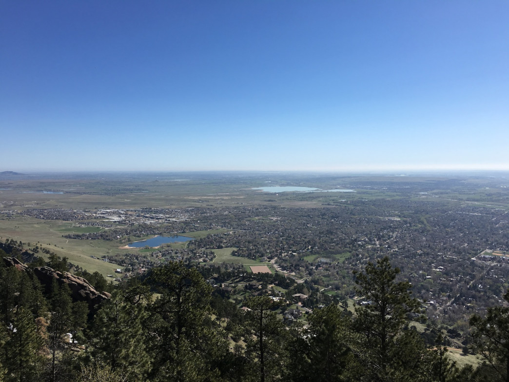 The view from the summit of Mount Sanitas makes it worth the work.