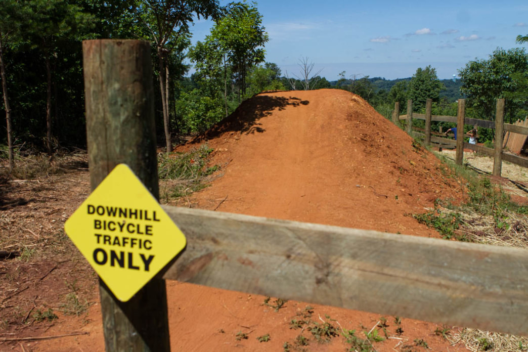 Starting hill for the Devil's Racetrack at Baker Creek Preserve in Knoxville.     Clay Duda