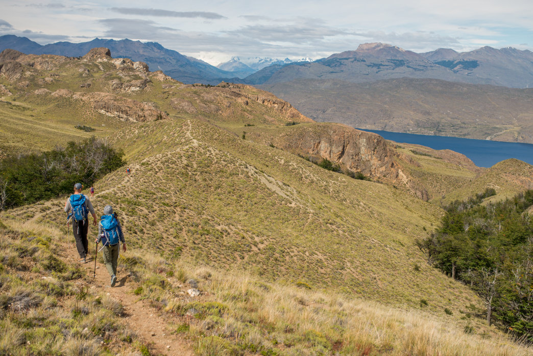 Hiking in Parque Patagonia.