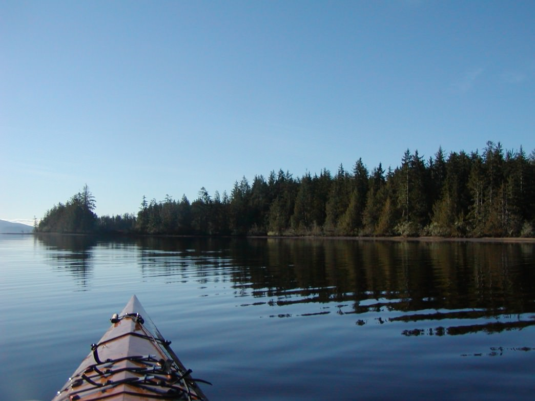 Kayaking on Lake Ozette in Olympic National Park.