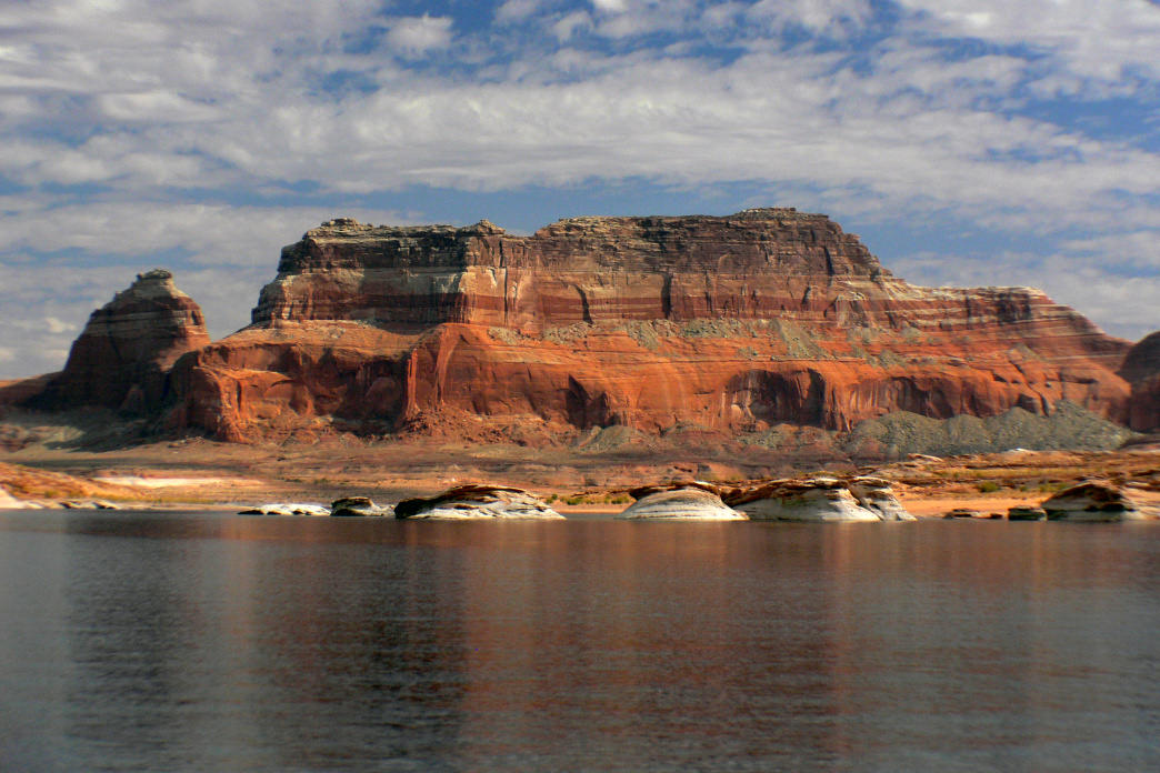 Take a dip at peaceful Lake Powell.