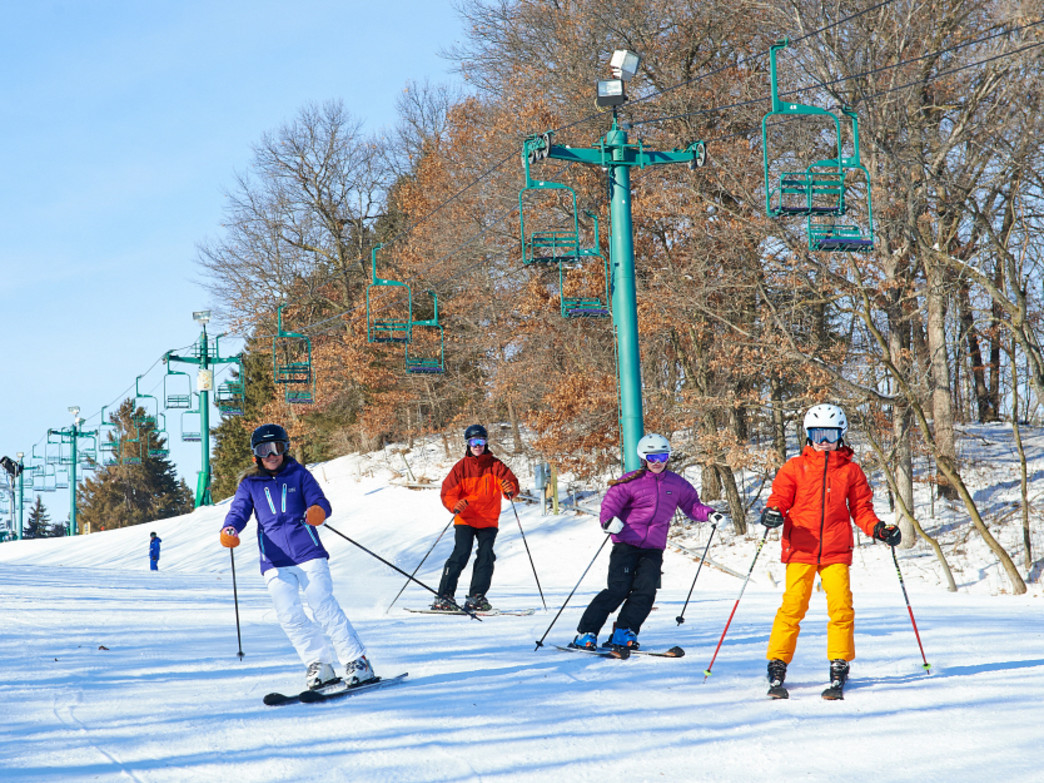 Afton Alps features 48 trails and 18 lifts.