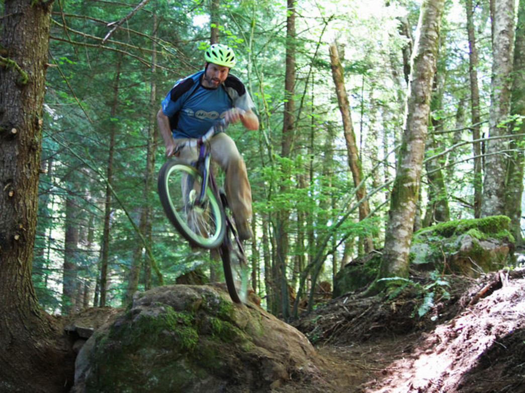 Sandy Ridge offers 15 miles of stellar mountain bike trails in the foothills of the Cascade Range.