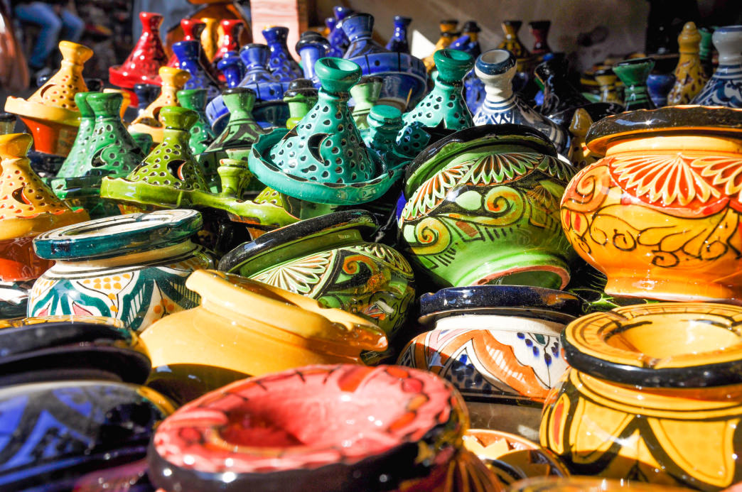 A sampling of the wares on the street of Marrakesh.     Julia Rogers