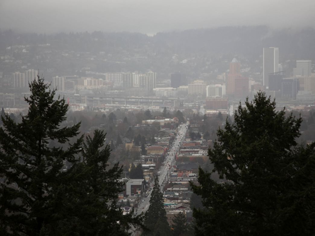 Mount Tabor provides great views of downtown Portland, making it an ideal spot to enjoy Fourth of July fireworks.