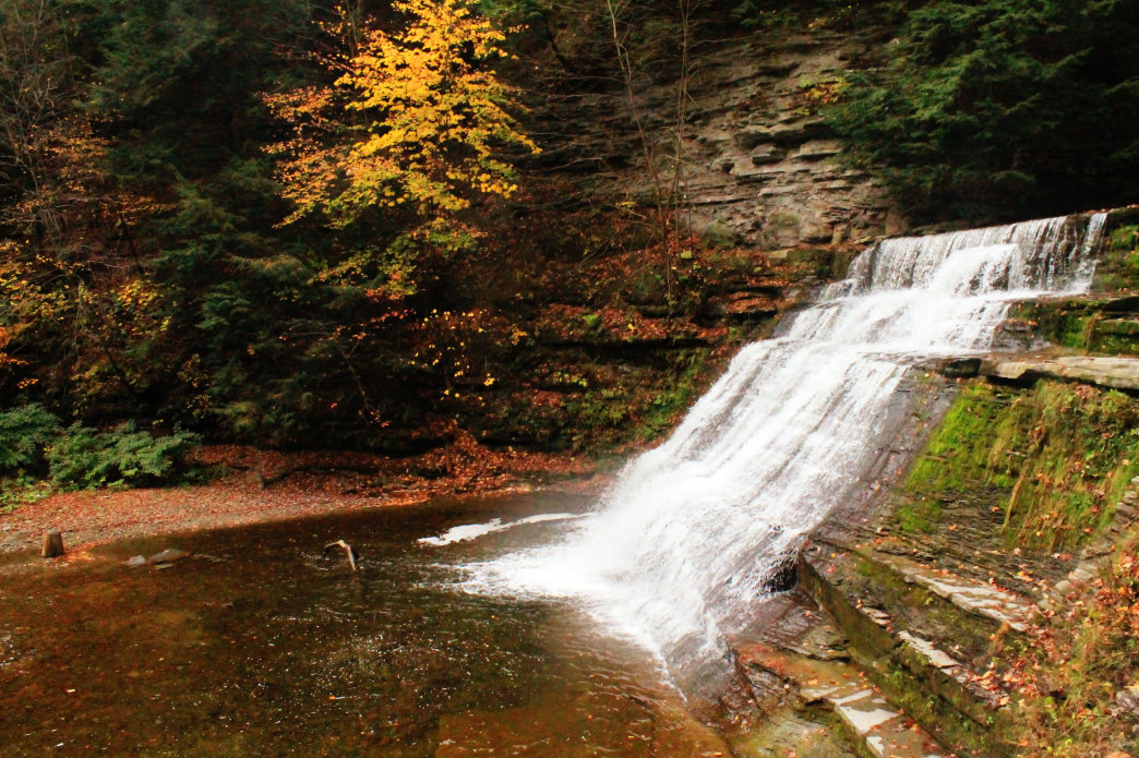 Stony Brook State Park is home to multiple waterfalls.