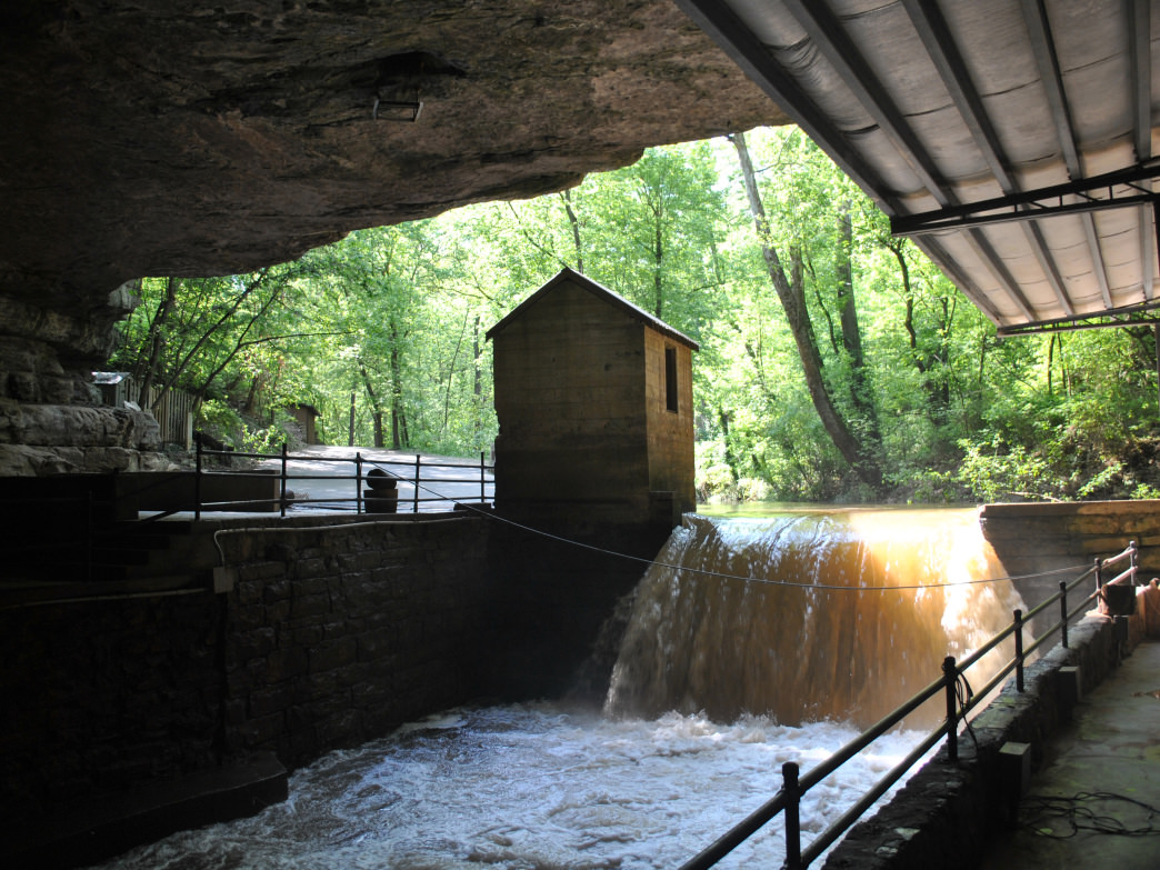 Lost River Cave Dam beneath Bowling Green.