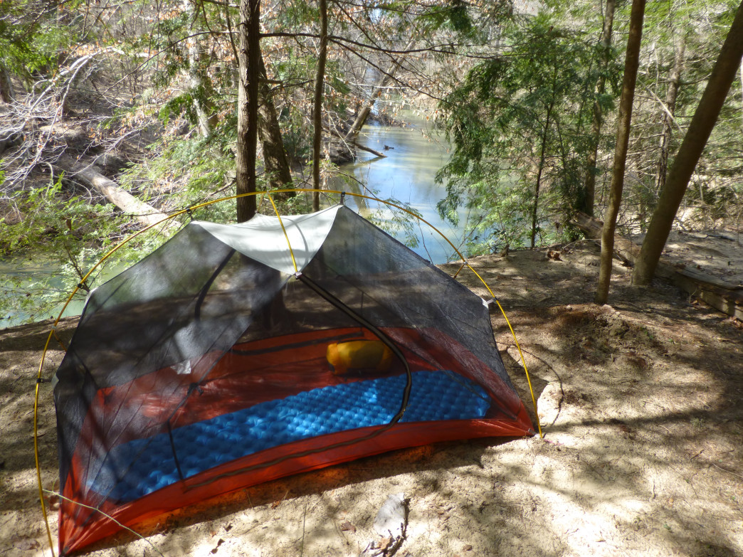 Camping in the Sipsey Wilderness.