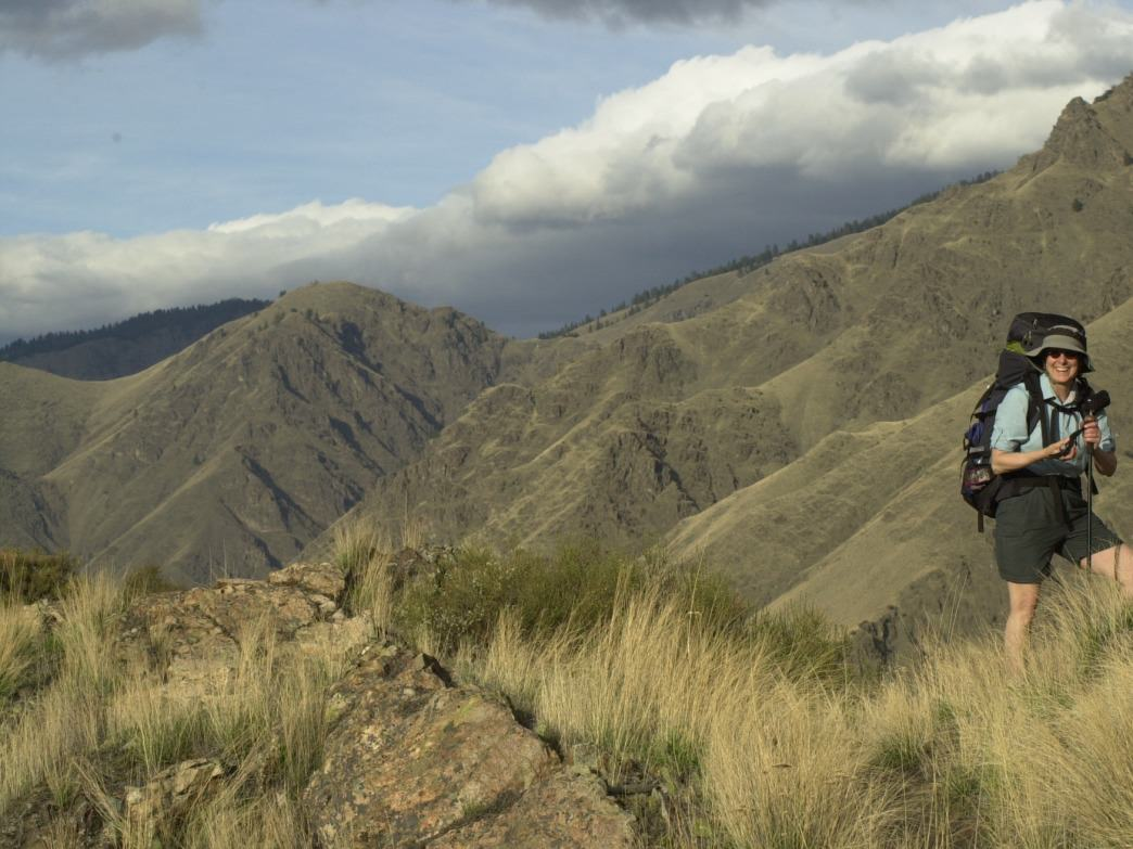 Hikers can be trekking in shorts in February in Hells Canyon because of the canyon's low elevation.