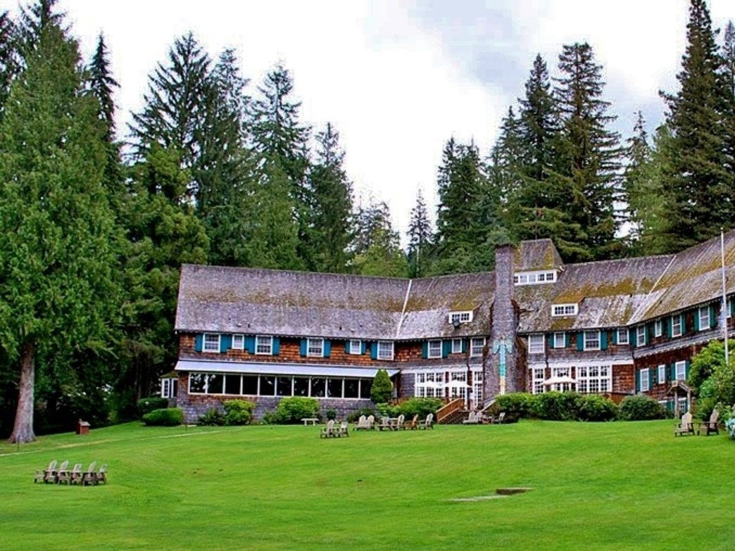 The Lake Quinault Lodge is near the border of Olympic National Park, and has endless exploration of the Quinault Rainforest