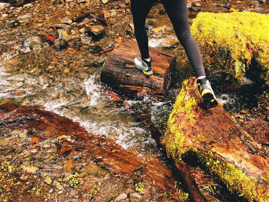 Stream crossings can be tricky and require some quick maneuvers.