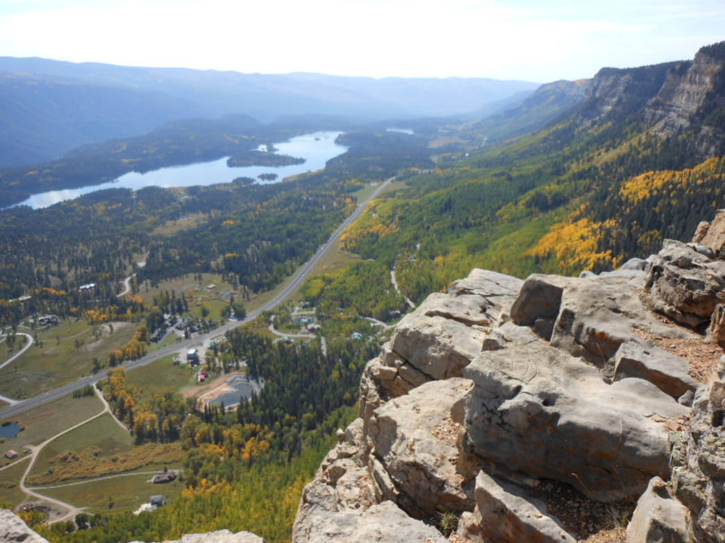 A brilliant view from Castle Rock on the Elbert Creek Trail.