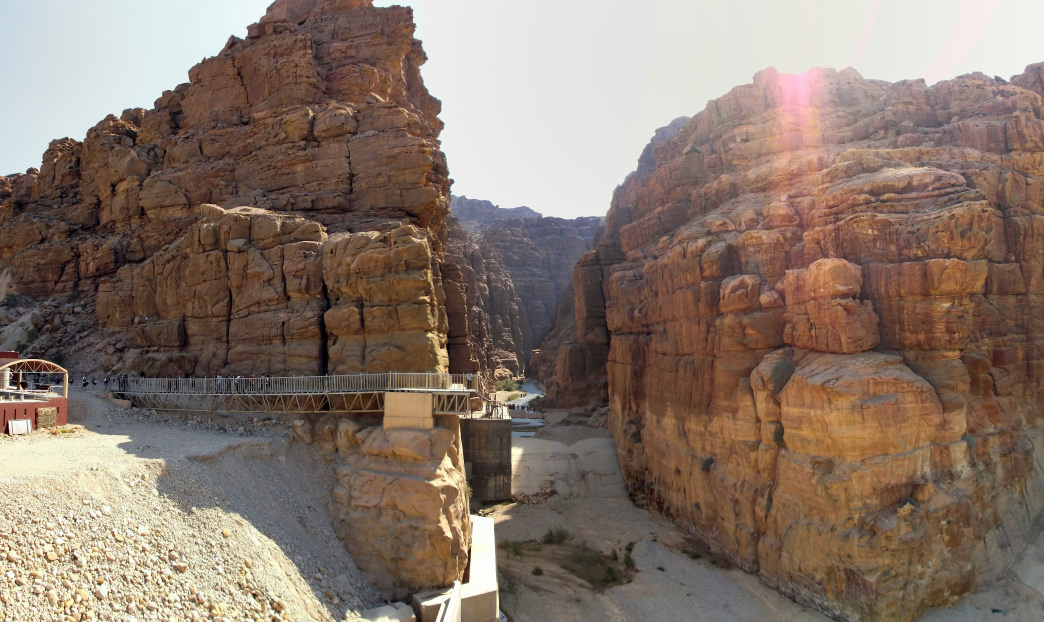 An ideal time to visit Wadi Mujib is between April and October, when water levels are lower.