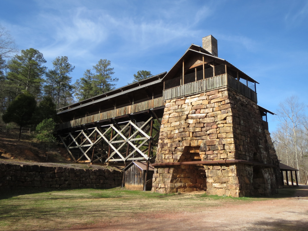 The furnace at Tannehill was destroyed by the Union army in the Civil War but resurrected almost a century later and is truly a sight to behold.